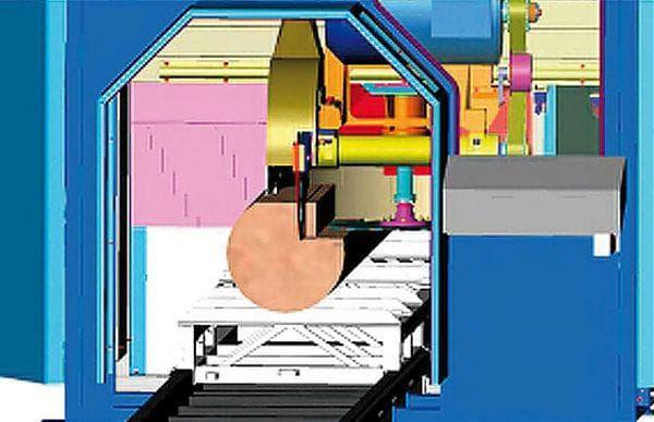 Конструкция угловой дисковой пилорамы