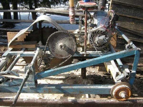 Самодельная пилорама с электродвгателем