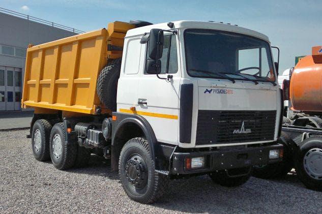 Технические характеристики самосвала МАЗ 20 тонн