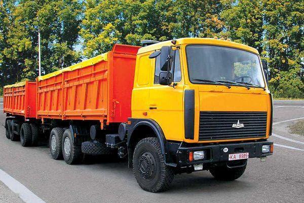 Характеристики грузовика