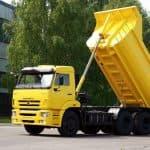 Сколько кубометров разных материалов помещается в кузов КАМАЗа?
