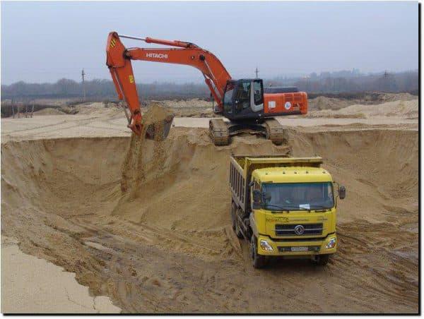 КамАЗ песка