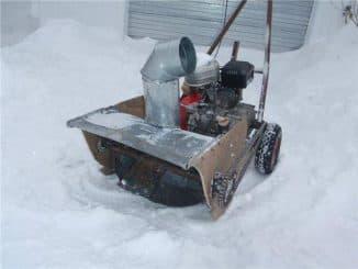 Самодельный электрический снегоуборщик