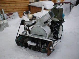 Двухступенчатый снегоуборщик