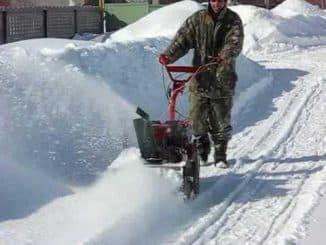 Снегоуборщик на мотоблок Салют