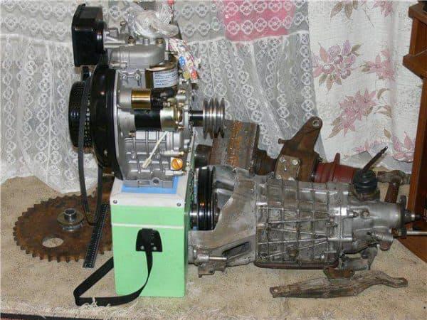 Двигатель самодельного минитрактора